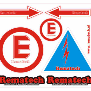 Stickervel FIA Vereiste Veiligheid Stickers.