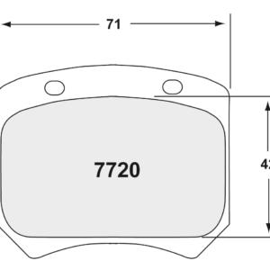 Opel Astra TCR/WTCR 15mm Achterzijde