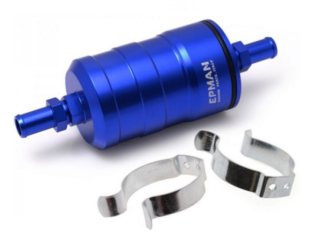 Aluminium Brandstoffilter 12mm) Blauw