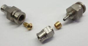 RVS Remslang Aansluiting D03 Male Flair M10x1.25mm